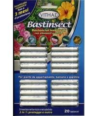 BASTINSECT Insetticida sistemico per piante bastoncini  20pz afidi cocciniglia