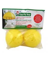 CAP-FLY TRAP Biotrappola cromotropica alimentare cattura insetti confez. da 5 pz
