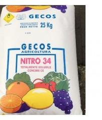 CONCIME 34%  NITRATO AZOTO  FRUTTA AGRUMI OLIVO E PRATO CONF KG 25