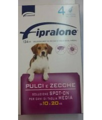 FIPRALONE  SPOT ON CANE MEDIA TAGLIA 4 PIPETTE KG 10-20 KG