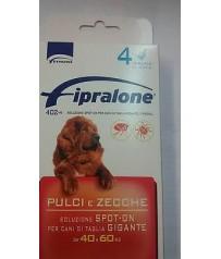 FIPRALONE  SPOT ON CANE TAGLIA GIGANTE 4 PIPETTE 40/60 KG fipronil pipette