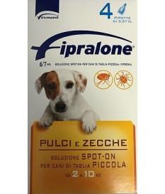 FIPROLINE 2 - 10 Kg CANE CANI  ANTIPULCI ANT FIPRALONE 4 pipette antiparassitari