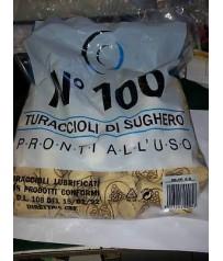 N 100TAPPI DI SUGHERO AGGLOMERATO MIS. 24 X 40 VINO ENOLOGIA ALIMENTI
