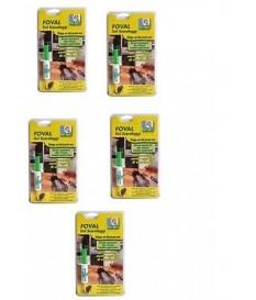 N 5 SIRINGHE FOVAL GEL SCARAFAGGIO SIRINGA DA 5 G  MANGIAPANEstesso solfac gel